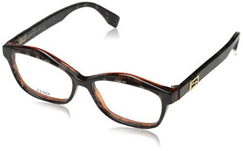 Fendi Brillengestelle FF 0094 D5T Rechteckig Brillengestelle 52, Schwarz