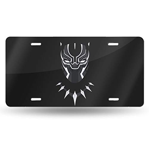 ZhSeHhats Black Panther Metal License Plate - Soccer Team Design Aluminum Car Auto Tag - 6 x 12 inch