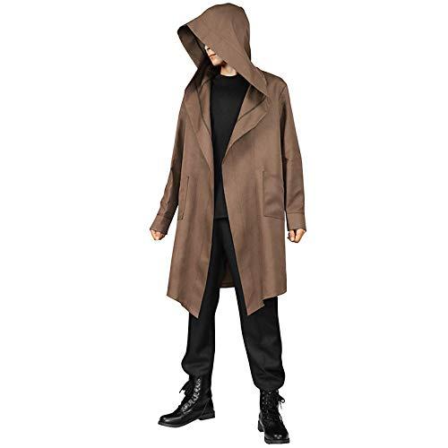 Gretrue Adult Halloween Costume Tunic Hoodies Robe Cosplay Capes-Braun_M.