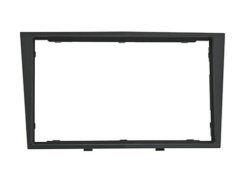 meins24 15120017 - Mascherina per autoradio doppio 2 DIN, colore: nero / antracite scuro