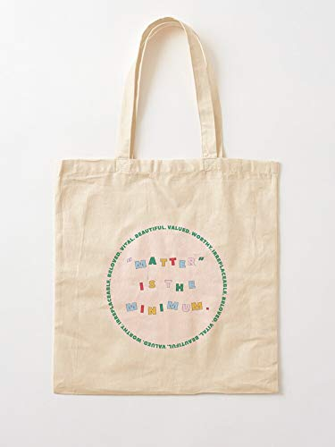 Black Beloved Irreplaceable Valued Words Matter Lives Beautiful Vital Worthy Canvas Tote Umhängetasche Stylish Shopping Casual Bag Faltbare Reisetasche
