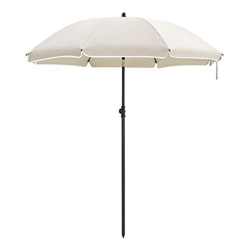 SONGMICS Parasol Droit, Ø 160 cm, UV 50+, Nervures en Fibre de Verre,...