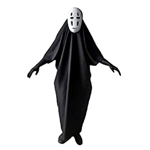 Fuji shop Fancy No-Face Anime Spirited Kaonashi Cosplay Costume