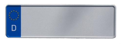 KFZ-Kennzeichen EU 320 x 110 mm, reflektierend, Autoschilder mit Wunschkennzeichen