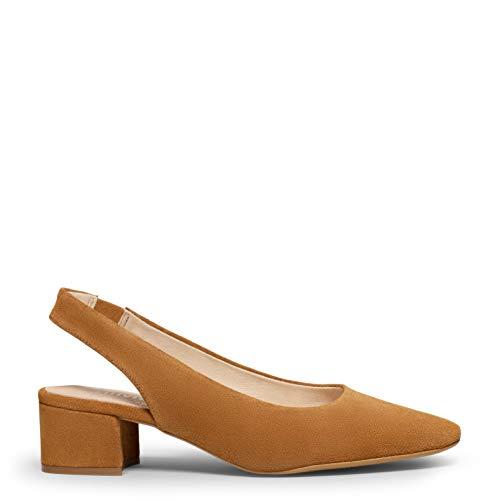 Zapatos miMaO. Zapatos de Piel Hechos en España. Zapatos Destalonados y Puntera Cuadrada. Plantilla Gota Ultra Confort Gel