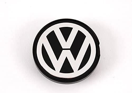4 Cubiertas Centrales Llanta para Volkswagen Polo 1995-2010 Bora Beetle Golf Passat, ProteccióN Con Logotipo Prueba Agua Polvo Con Buje Rueda Accesorios Partes