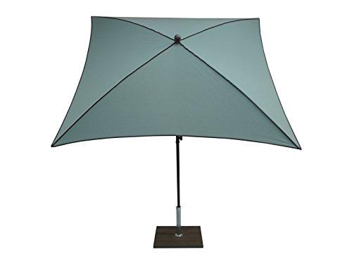 Maffei Art 46BQ Border, Parasol carré cm 200x200, Tissu dralon, Made in Italy. EXCLUSIVITE Couleur Agua