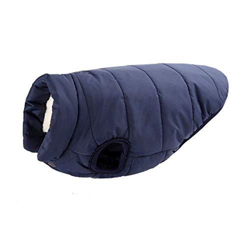 Ropa para perros grandes de invierno, abrigo para perro, abrigo de forro polar grueso, chaqueta para perro, chaleco de bulldog francés, azul marino, XS