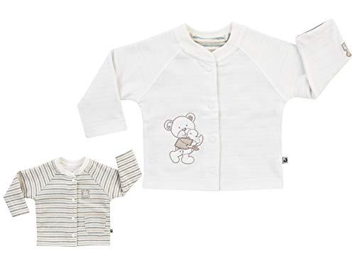 Jacky Unisex omkeerbare jas met knoppen, leuk beer motief, grootte: 62, Leeftijd: 2-3 maanden, Off-White/Beige, 297101