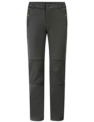 Camii Mia Men's Winter Snow Pant Outdoor Windproof Waterproof Cargo Ski Pant Fleece Hiking Pants (34W x 32L, Charcoal Gray)