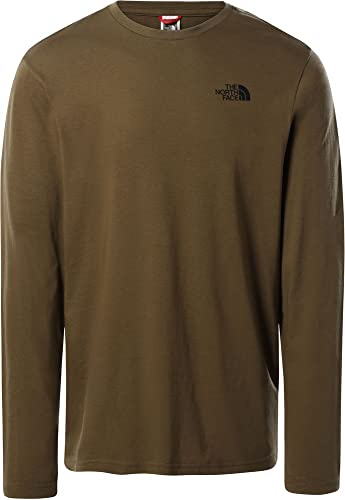 The North Face Men's L/S Easy tee - Camiseta para Hombre Mil. Olive S