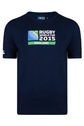 Canterbury Rugby World Cup Men's T-Shirt Logo Blau Navy S