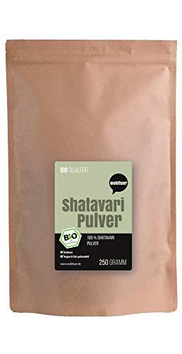 Wohltuer Bio Shatavari Pulver 250g - In Rohkostqualität | Aus Kleinbauernkooperative | Fair, Bio & Ganzheitlich | Ayurvedisch