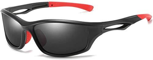 Gafas De Bicicletas Hombre Gafas De Ciclismo Gafas De Sol Polarizadas Para Hombres Forbicicleos Ciclismo UV400 Gafas Para Paquete De Gafas Ciclismo Vidrios De Ciclismo (Color: Negro Rojo Negro)