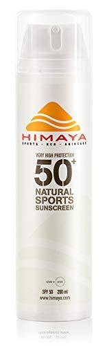 HIMAYA Bio Sonnencreme LSF 50+ 200ml | Natürlicher & umweltfreundlicher Sonnenschutz | Sport & Freizeit | Wasser & schweißfest | Nachfüllbar | Mineralischer UV-Schutz mit Non-Nano Zink | Reef-Safe