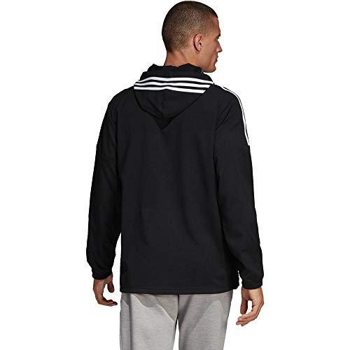 adidas Sport ID Anorak 1/2 Zip Woven Jacket, Herren M Schwarz/Weiß