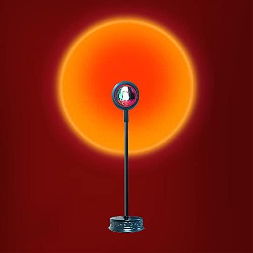 Lámpara De Proyección De Puesta De Sol, Luz LED, Iluminación De Estado De Ánimo Visual Romántica, Rotación De 180 Grados, Luz Nocturna, Atmósfera, Lámpara No Deslumb Sunset Red