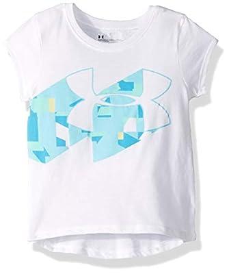 Under Armour Girls' Toddler Wordmark Logo Short Sleeve Tee, White-s19, 4T