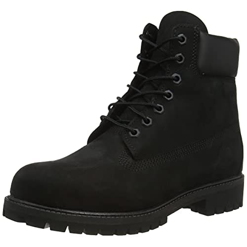 Timberland 6 Inch Premium, Stivali Uomo, Pelle, Larghezza scarpa: medium, Nero (Black Nubuck), 43.5 EU