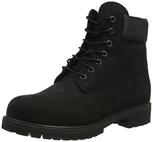 Timberland Men's 6 inch Premium Waterproof Boot, Black Nubuck, 7
