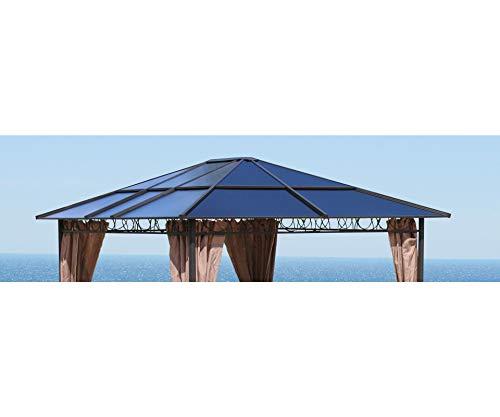 GRASEKAMP Qualität seit 1972 Ersatzdach Hardtop Pavillon 3x3,6m Doppelstegplatten Polycarbonat Braun