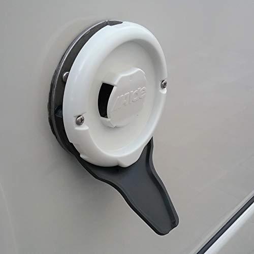 Manufaktur3D Kondenswasserablauf Kaminschild Ablauf für Deckel Kamindeckel Kaminabdeckung Abgaskamin der Heizung an Wohnmobil Caravan (Typ Alde, Schwarz XL)