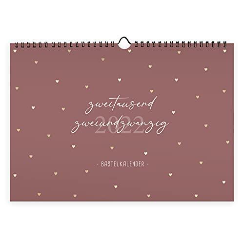 Kalender zum Selbstgestalten I Bastelkalender DIN A4 | Wandkalender zum Zeichnen und Bekleben | Jahreskalender mit Monatsübersicht | Fotokalender A4 Querformat, ideal für Handybilder…
