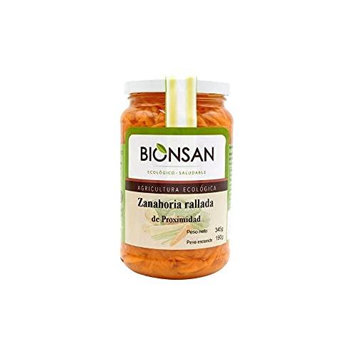 Bionsan Zanahoria Rallada de Proximidad Ecológica   3 botes de 345 gr   Total: 1035 gr