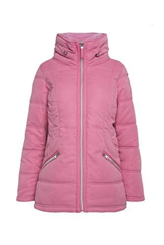 SOCCX Damen Winterjacke mit Struktur und Doppelkragen