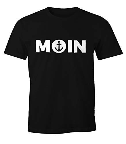 MoonWorks Cooles Herren T-Shirt Moin mit Anker Shirt schwarz XL