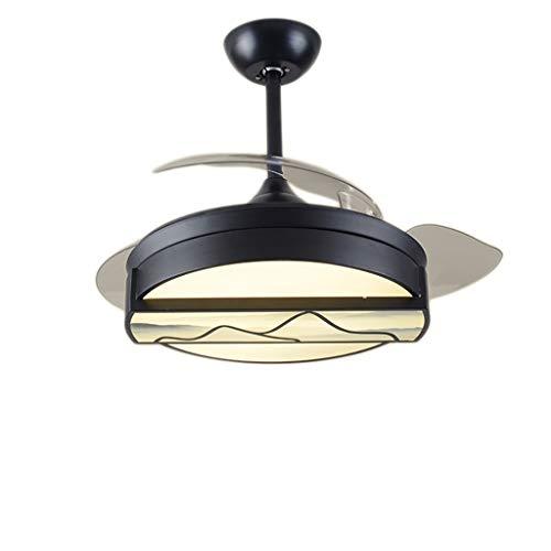 hsj WDX- Lámpara de ventilador de techo de 50 cm para restaurante de techo LED36 W, duradera (color: B)