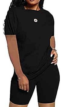 PerZeal Women s Summer Casual 2 Piece Outfits Loose Soft Shorts Pant Set Sports Suit Tracksuit Jumpsuits
