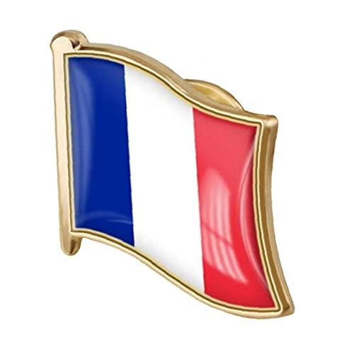 Ruluti Französisch-Republik-Flagge Pin-Abzeichen Metall-Revers-brosche Frankreich Von Flagge Abzeichen Nationalen Neuheit Zubehör