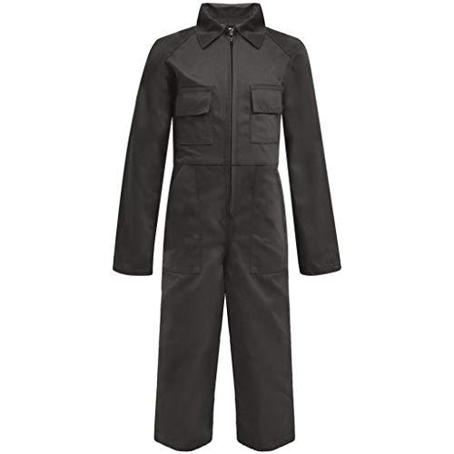 vidaXL Kinder Arbeitsoverall Latzhose Arbeitshose Kinderhose Größe 98/104 Grau