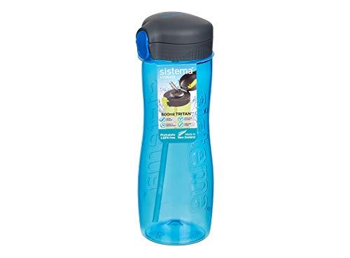 Sistema Tritan Quick Flip - Borraccia in plastica, 800 ml, Colore: Blu
