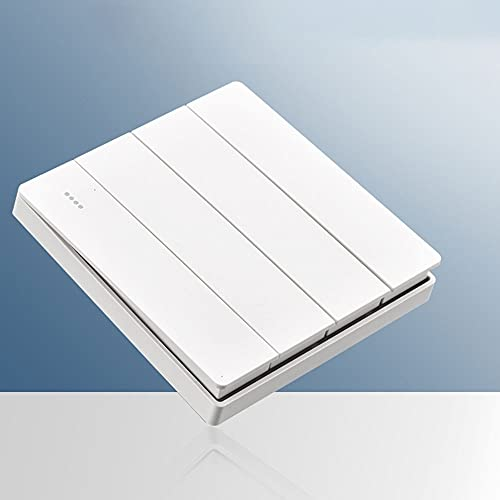 SYunxiang Interruptor de luz de Pared Blanca de 1/2 vías de 1 a 4 Unidades Interruptor de Encendido/Apagado Botón de Encendido y Apagado Interruptor de Pared Panel de CA 86 Interruptores de Panel de