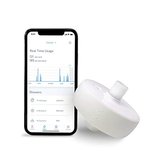 Pani Smart Water Monitor: Measure Water Usage in Real Time by Individual Fixture, Easy Self-Installation, Elderly Care Monitoring, Conservation Coach