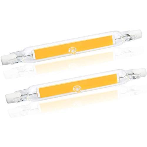 R7S LED 118mm Regulable, Auting Bombilla LED R7S 20W Blanco Cálido 3000K 2000LM Equivalente a R7S 118mm 200W Lampara Halógena,360 Grados,Sin Parpadeo, Paquete de 2,110V~140V