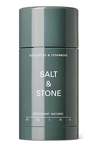 Salt & Stone All Natural Deodorant (Eucalyptus & Cedarwood, Nº 1) | Made w/ Probiotics & Shea Butter | 48 Hour Odor Protection For Women & Men | Aluminum Free, Paraben Free, Cruelty Free & Vegan