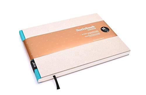 Cuaderno de diseño (DIN A5, formato apaisado), color turquesa