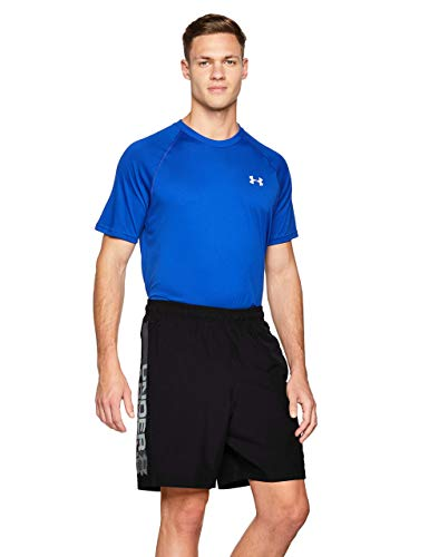 Under Armour Woven Graphic Wordmark Shorts Pantalones de hombre, pantalón corto ultraligero...