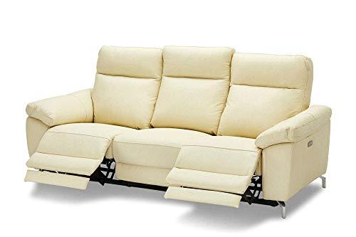 Sena Kunstleder Sofa 3 Personen Creme Wohnlandschaft Couch Sofa Garnitur Möbel