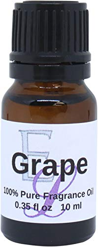 Grape Fragrance Oil by Eclectic Lady, 10 ml, Premium Grade Fragrance Oil, Perfect for Aromatherapy, Soaps, Lotions, Slime, and Other Bath and Body Products