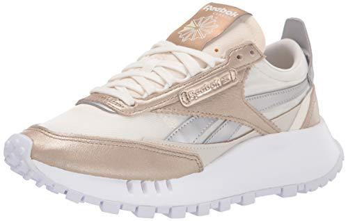 Reebok Women's Classic Legacy Sneaker, champagne/chalk/silver metallic 7.5 medium US