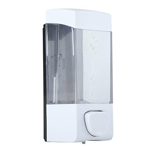Dispenser per Sapone Manuale da Parete Design a Pompa per Lavandino Sapone Liquido lozione per Cucina Bagno