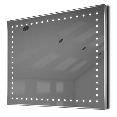 Verlichte Spiegels Empire Ambient Shaver LED Badkamer Spiegel met Demister en Sensor, Paars
