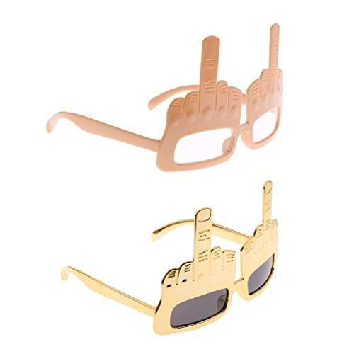 Colcolo Gafas de Fiesta de 2 Piezas Gafas Divertidas de Gesto de Novedad para Baile de Máscaras