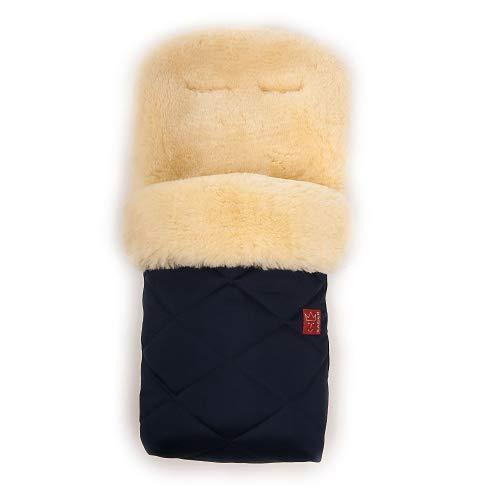 Kaiser Saco de abrigo de piel de cordero, color azul marino