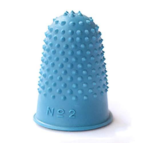 MOVKZACV 5 unids protector de costura dedal de goma, punta de dedo, gruesas, reutilizables, para recuento de dinero, clasificación, escritura y clasificación (azul)