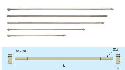 両引きボルト M16×700ミリ (Z) 認定品 両ネジボルト